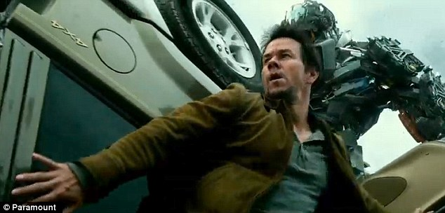 Action-packed: The star appears as Cade Yeager, a single father and struggling inventor, in the film