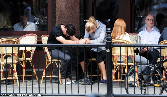 Discussion: In a brief statement, the golfer said he was making the announcement publicly after talking to Wozniacki. The pair were pictured talking in Sloane Square, London, last week (pictured)