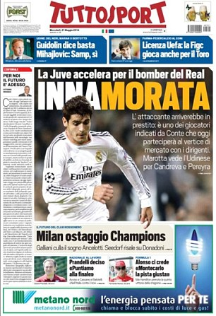 In love: Juventus are really keen on taking Real's Alvaro Morata, either on loan or permanently, according to reports in Tuttosport