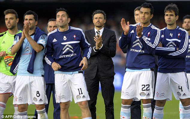 Old new methods: Enrique said he will not use some of the training routines he used while at Celta Vigo