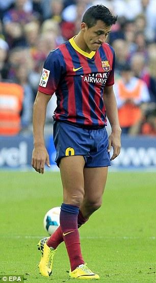 Barcelona forward Alexis Sanchez