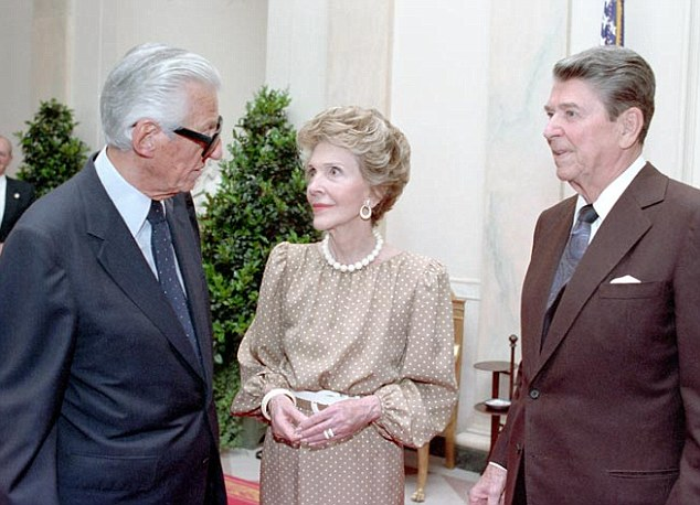 Thick as thieves: Hollywood powerhouse Lew Wasserman was Ronald Reagan's mentor, once described as 'the Godfather of the film industry.' A new documentary seen exclusively by MailOnline explores Wasserman's connections to the Mafia and how that influenced the man who would be president and his First Lady