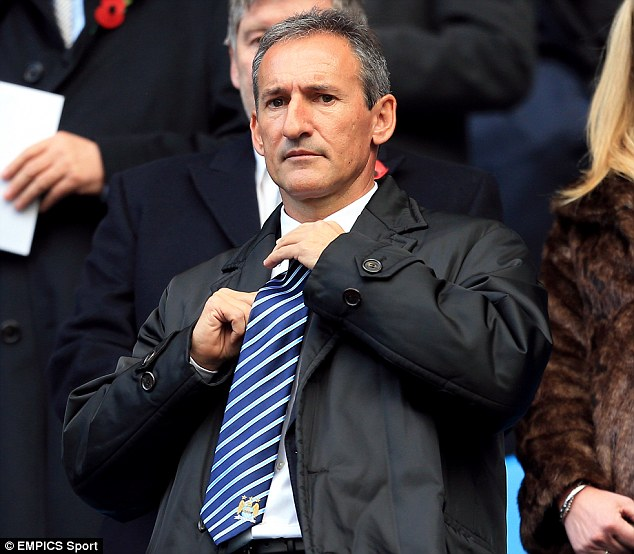 Peacemaker: Manchester City's director of football Txiki Begiristain will talk with Toure before the World Cup