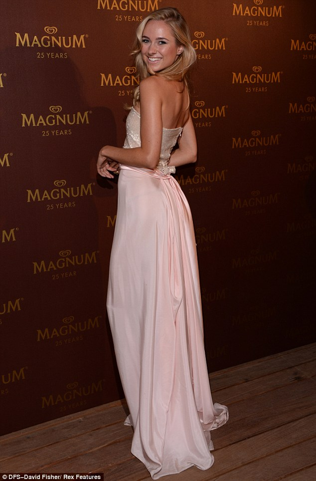 Standing out: Kimberley later attended the Magnum 25th birthday celebration, also in Cannes, on Wednesday evening