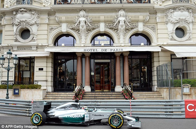 On track: Lewis Hamilton is bidding for his fifth straight victory at this weekend's Monaco Grand Prix