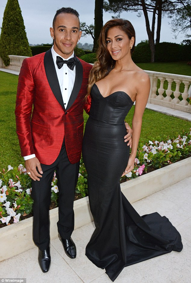 Hearts desire: Nicole was joined by her boyfriend Lewis Hamilton for the event