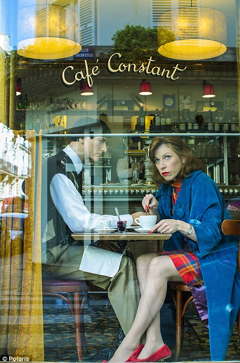 Suzanne enjoys a French breakfast at Cafe Constant with her imitation husband while on holiday