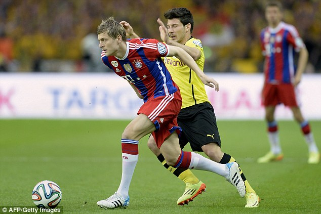 Done deal: Manchester United have agreed a deal to sign Bayern Munich midfielder Toni Kroos for £20m