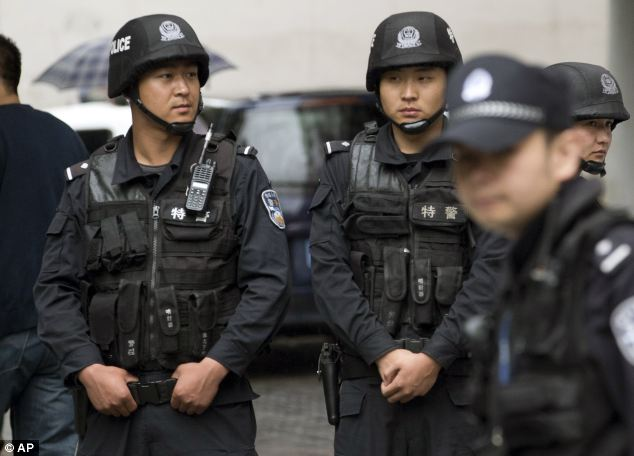 Hundreds of police swarmed the area where the attack took place