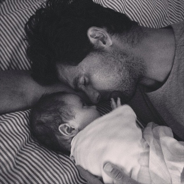 Father and son: Silvana shared a sweet snap of her tennis great husband and their son Nicholas to Instagram