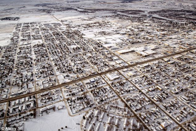 The frozen plains of Montana as an unusually bitter winter grips the midwest