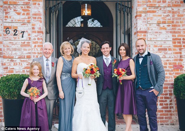 Bride Helen said: 'Without the donor, my dad wouldn't have been able to walk me down the aisle - I can't imagine what my wedding would have been like without him'
