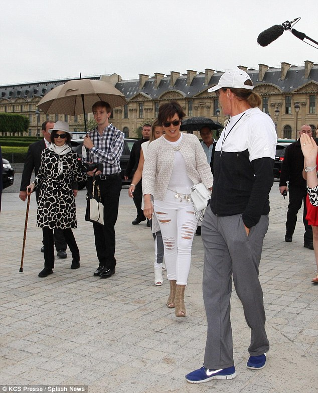 Sight-seeing: The pair's outing appeared to be filmed for Keeping Up With The Kardashians as a camera crew were following them around