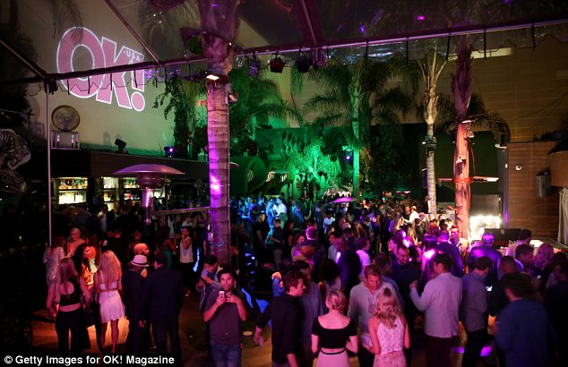 Party time: The annual bash was held at Lure in Hollywood this year, where guests were offered a choice of cocktails or healthy wheatgrass shots and smoothies