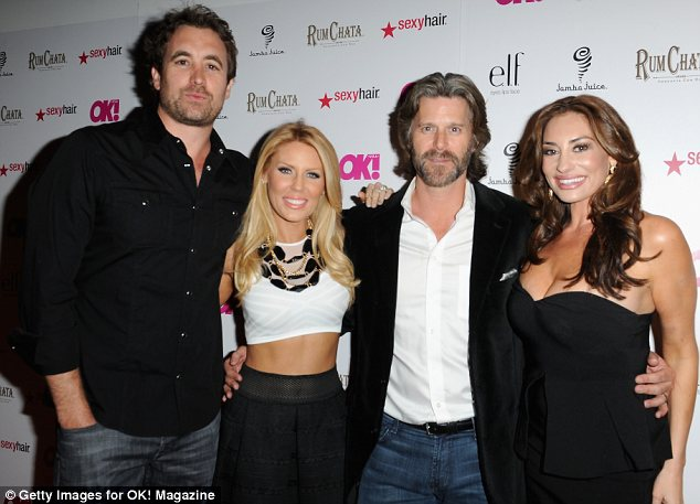 Catching up: Gretchen and her fiance Slade Smiley (centre) hung out with pals Christian and Lizzie Rovsek at the So Sexy party