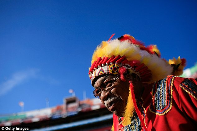 UNOFFICIAL: A Washington Redskins fan known as 'Chief Zee' attends every game in full headdress but is not an official mascot