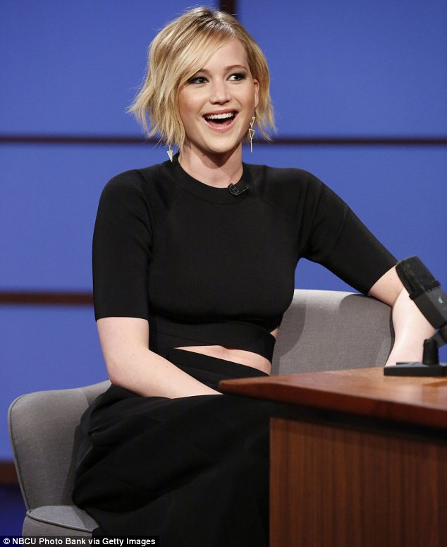 Embarrassing: Jennifer Lawrence opened up on vomiting at Madonna's post-Oscars party during Wednesday night's episode of Late Night With Seth Meyers