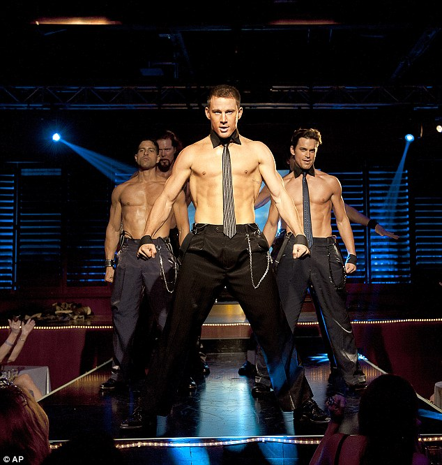 Magic torso: Channing led the screams on the original Magic Mike movie