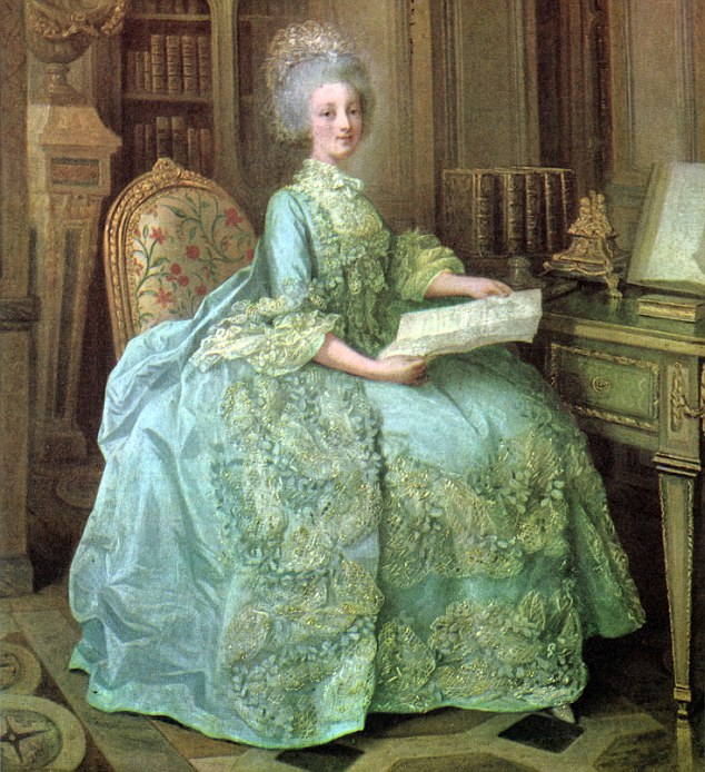 Inspiration: But Marie Antoinette, the doomed French Queen, would no doubt have been shocked by Kim's high hemline