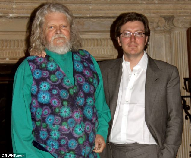 Argument: Ceawlin Thynn (right) was not on speaking terms with his parents after he removed murals his father Alexander Thynn (left), the seventh Marquess of Bath, had painted on the walls of the stately home