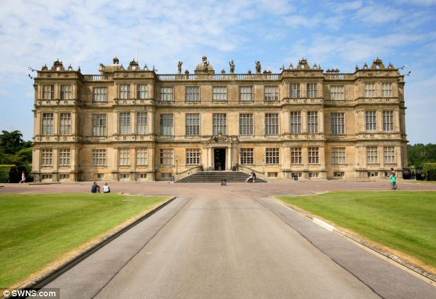 Sprawling estate: The showcase at Longleat House (pictured) in Wiltshire includes portraits of Lady Emma's big day, as well as diaries, photos, portraits and even newsreel footage of previous Thynn family weddings