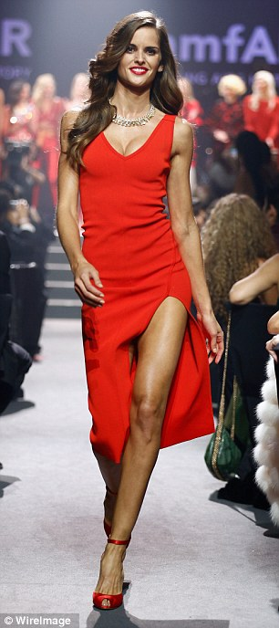 Custom made: Izabel Goulart and wore dresses which had been made by top designers for the event