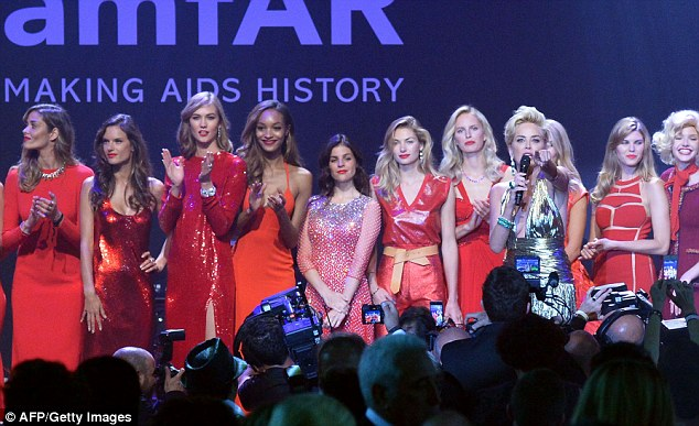 What a line up: Some of the world's most beautiful women offered their services for the event