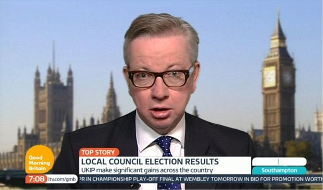 Tory Education Secretary Michael Gove said the loss of votes to Ukip was a 'clear instruction from people on us to deliver'