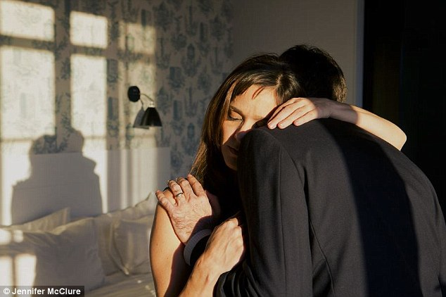 Tender: Photographer Jennifer McClure (pictured) has turned the camera on herself and re-enacted her string of failed relationships for an intimate photo project entitled You Who Never Arrived