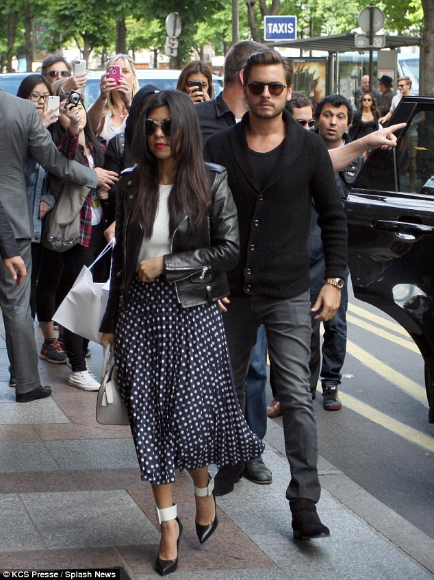 Before the girls' night: Scott Disick joined Kourtney for some fun in Paris