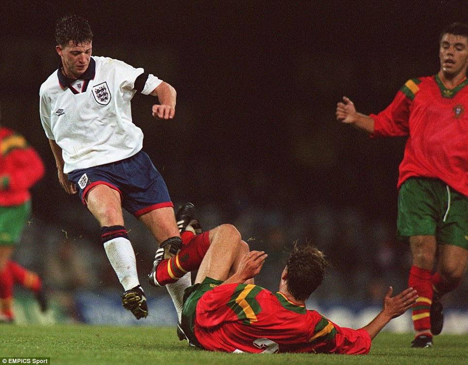 Robbie Fowler in action at the Toulon Tournament
