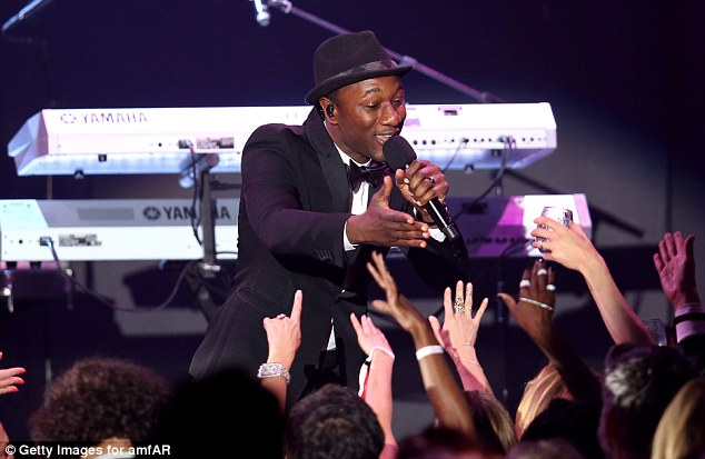 Sing star: Aloe Blacc delighted as he took to the stage