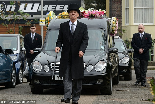 Lucy Beale's funeral was a traumatic day for us all, but particularly her father. Here, the young business woman, cocaine fan and human cat makes her final entrance in to Albert Square - in a coffin unfortunately but probably with her arms crossed. It's what she would have wanted...