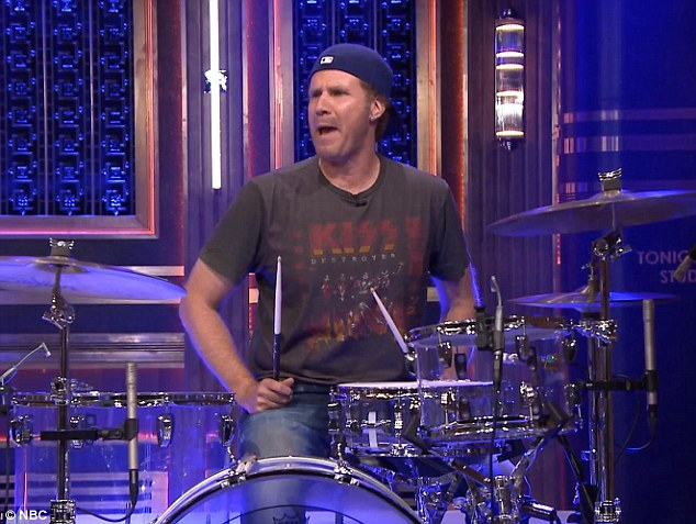 Showing off his skills: Will kicked off the beats competition and immediately impressed with his version of the Walk This Way beat, largely thanks to the show's house musician Quest Love who acted as ghost drummer for the actor