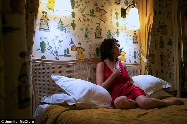 Alone: After the shoot was done and her stand-ins had cleared off, Ms McClure would stay the night at the hotels and reflect on her evening