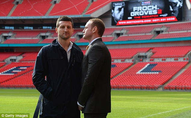 Showdown: A crowd of 80,000 will watch Froch take on George Groves at Wembley Stadium