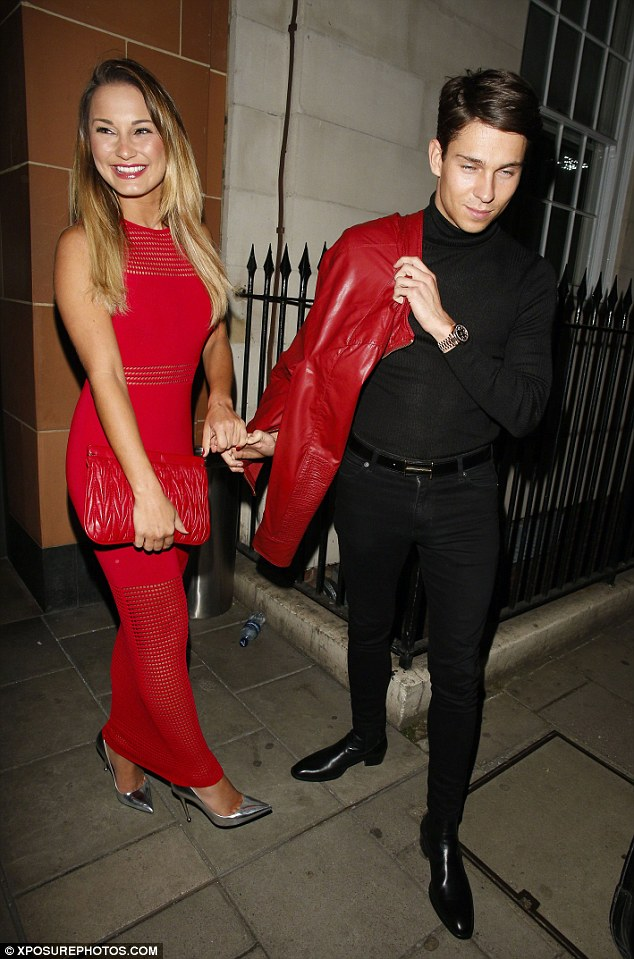 Happier times: Joey Essex said that now he and Sam are no longer on TOWIE, their relationship is 'a lot more stable'