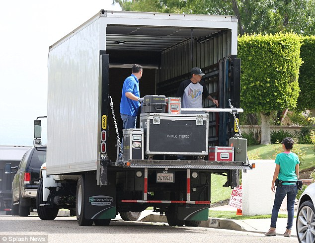 True Tori crew: A large truck delivered filming equipment to the house, much to the annoyance of some neighbours, who say the family has increased noise in the quiet residential street