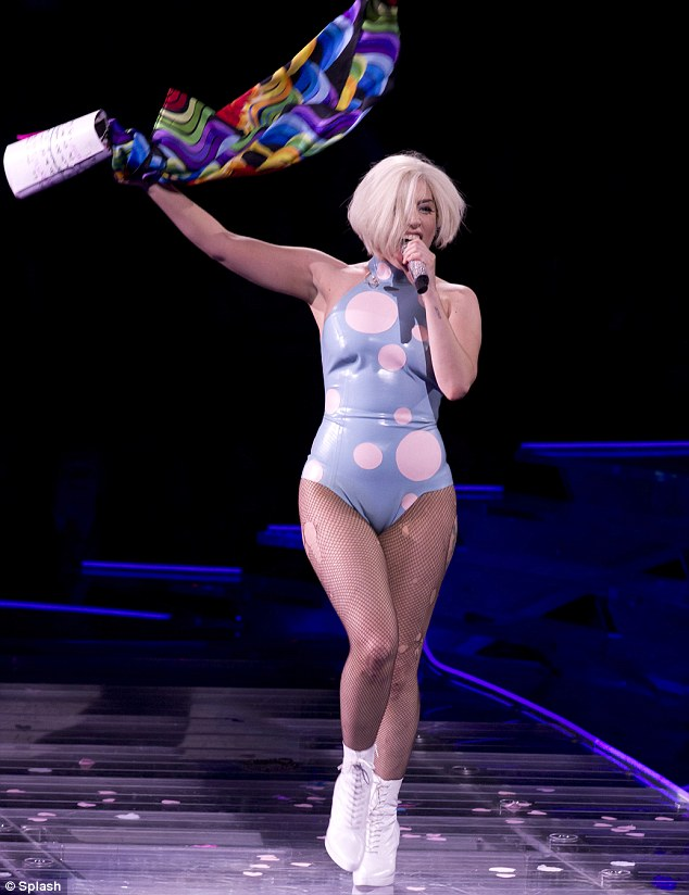 Work it! The G.U.Y. hitmaker performing in Madison Square Garden in New York on May 13 as a part of her ArtRAVE: The ARTPOP Ball world tour