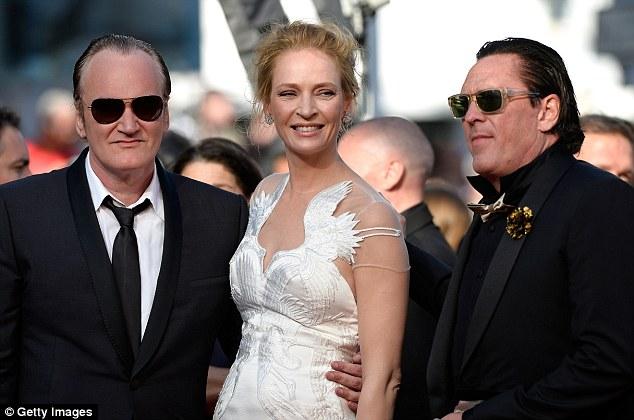 Reunited: Kill Bill stars Uma Thurman and Michael Madsen join their director at the cermeony
