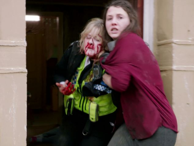 BBC series Happy Valley has come in for crticism after it depicted its heroine being savagely beaten, but the creators insist the drama is 'feminist' at heart as she will 'emerge victorious'