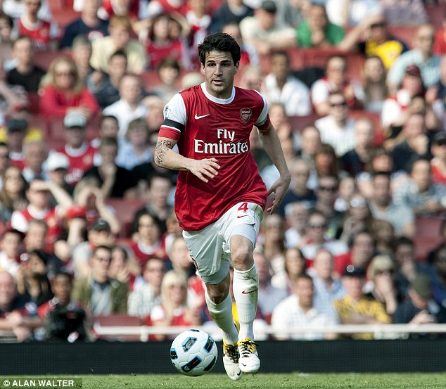 Return? Arsenal are thought to be keen on bringing Fabregas back to the Emirates Stadium this summer
