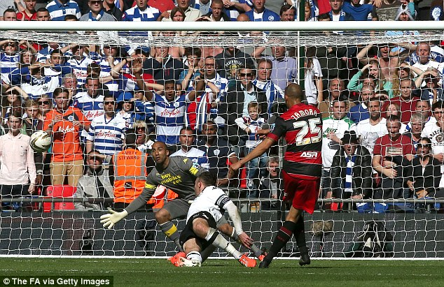 Priceless: Bobby Zamora scored the goal that sent QPR back into the Premier Leagu