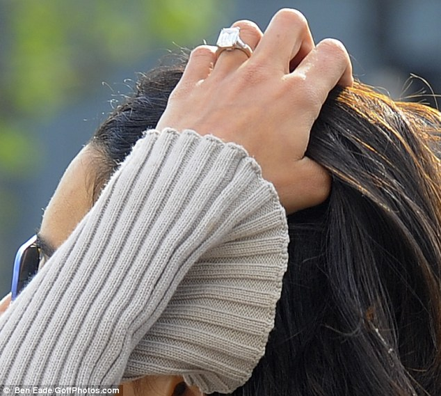 Big rock: Human rights lawyer Amal may have sneaked through customs at Heathrow without paying customs duty and import VAT on her diamond ring