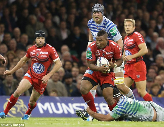 Impressive: Lancaster was in the crowd as Armitage starred for Toulon on Saturday at Millennium Stadium