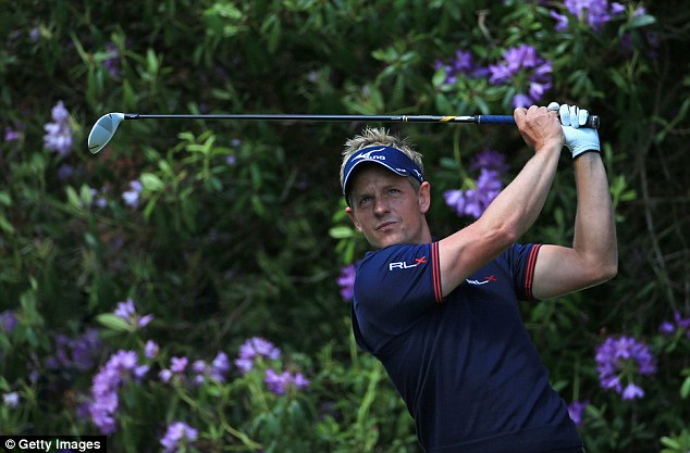 Wentworth master: Luke Donald hit some sumptuous shots in a fine back nine