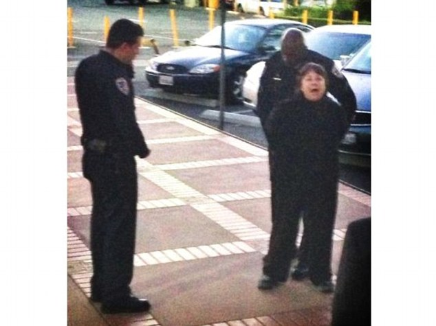 Disruptive: Letitia Pepper was taken into custody for being disruptive during a city council meeting last year