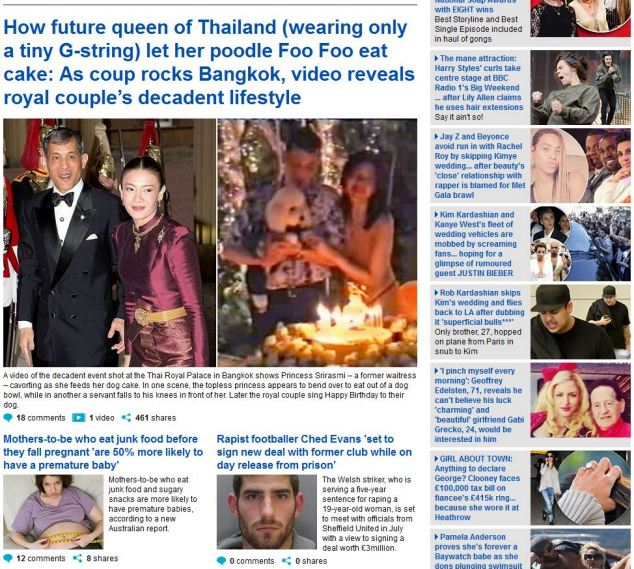The story that has offended Thailand's military junta and led to MailOnline being blocked