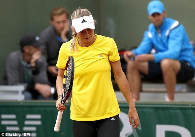 Heartbroken: McIlroy split with his fiancee and tennis star Caroline Wozniacki earlier in the week