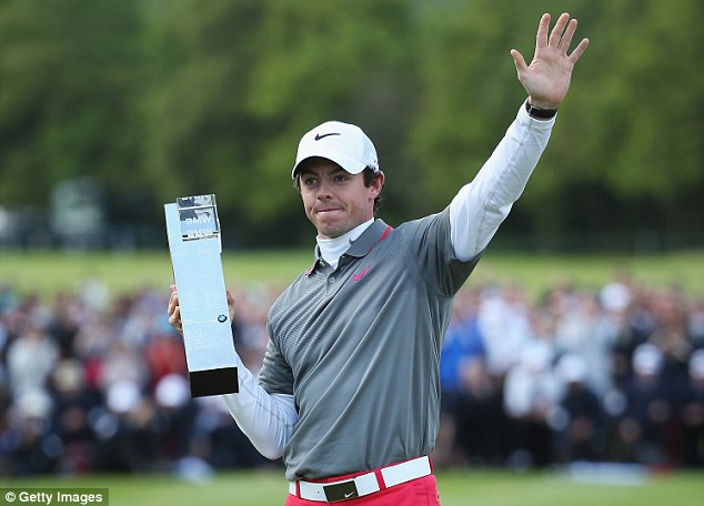 Champion: Rory McIlroy won the BMW PGA Championship by five shots on Sunday with a final round of 66